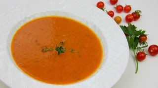 Roasted Tomato Coconut Soup (vegetarian)