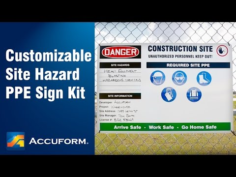 Customizable Site Hazard PPE Sign Kit