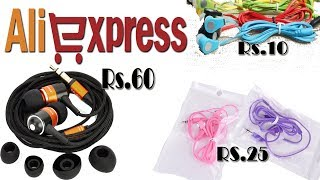 Cheapest Earphones Unboxing From AliExpress India 2017