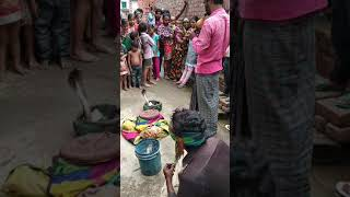 Indian villager showing snake's miracle
