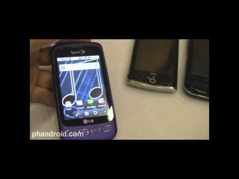 Samsung Transform, LG Optimus S, Sanyo Zio