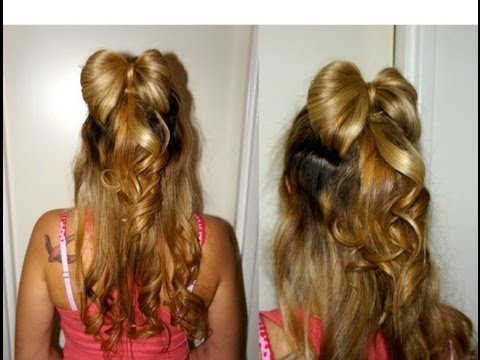 Tuto Coiffure 37 Demie Queue Ruban Half Ribbon Tutorial Youtube