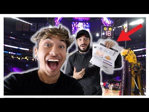 SURPRISING BEST FRIEND WITH $5,000 DOLLAR NBA TICKETS! (Emotional)