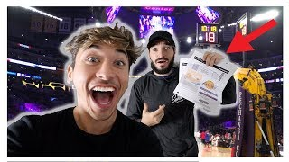 SURPRISING BEST FRIEND WITH $5,000 DOLLAR NBA TICKETS! (Emotional)