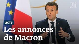 Les annonces d'Emmanuel Macron : institutions, impôts, retraite