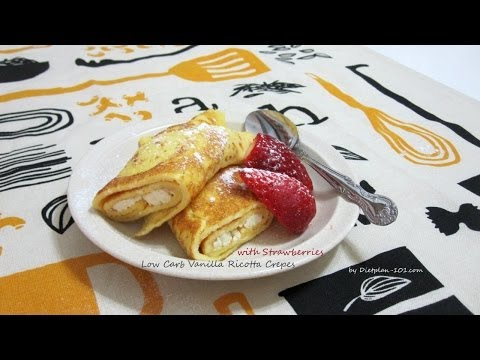 Low Carb Vanilla Ricotta Crepes With Strawberry | Dietplan-101.com