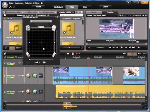 Stereo und Surround in Avid studio und Pinnacle Studio