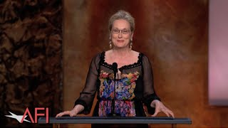 Meryl Streep salutes Jane Fonda at the 42nd AFI Life Achievement Award streaming