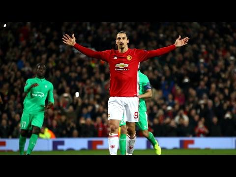 Zlatan Ibrahimovic Hat-Trick vs Saint-Etienne All Goals & Highlights (Europa League)  16.02.2017 HD