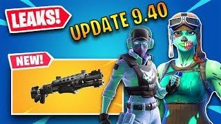 🔴FORTNITE *NEW* UPDATE 9.40! NEW LEGENDARY TACTICAL SHOTGUN! NEW LEAKS!