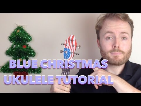 Blue Christmas - Elvis Presley (Easy Ukulele Tutorial + Singalong!)