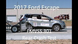 2017-2018 Ford Escape/Kuga FMVSS 301 Rear Crash Test (50 Mph)