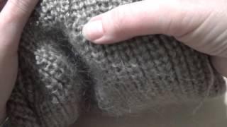 Второй вариант убавления петель у  шапки полуанглийской резинкой