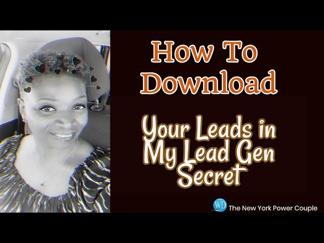 How to Download Your Leads in My Lead Gen Secrets