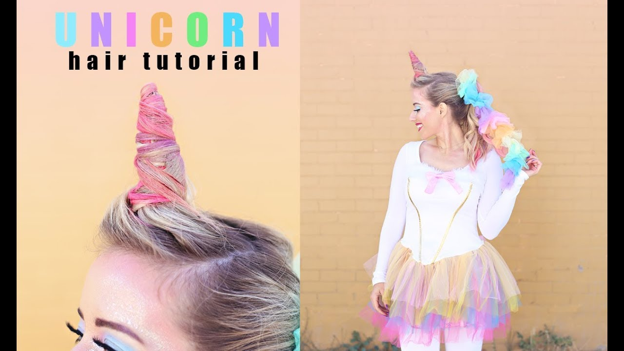 Unicorn Hair Tutorial Twist Me Pretty Halloween Tutorials