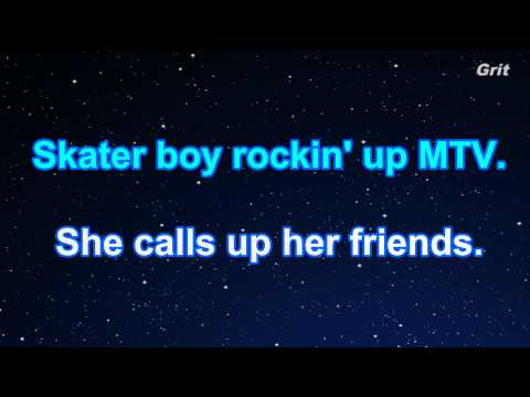 Sk8er Boi - Avril Lavigne Karaoke【No Guide Melody】