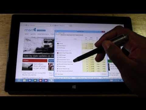 Surface Tablet How To Bring Up The Task Manager