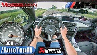 BMW M4 Akrapovic | 620HP Mosselman | 300km/h AUTOBAHN POV by AutoTopNL