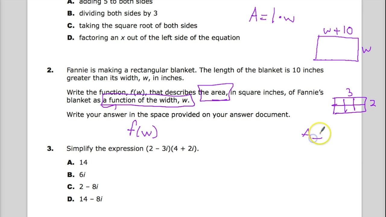 Question 2 - Integrated Math 2 - TNReady Practice Test - YouTube