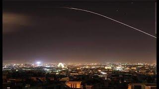 Перехваты ракет США и Британии в небе над Сирией