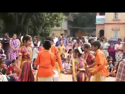 Folk Dance By Inchara Sr.... Jalle Kabbu