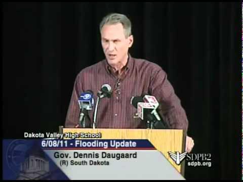 Gov. Dennis Daugaard - Missouri River Flood Briefing - June 8, 2011