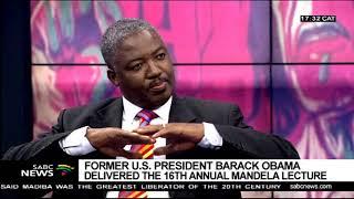 DISCUSSION: Mandela lecture by former U.S. Pres Obama