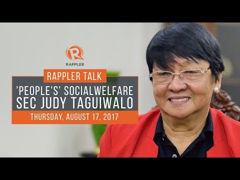 Rappler Talk with 'People's' Social Welfare Secretary Judy Taguiwalo