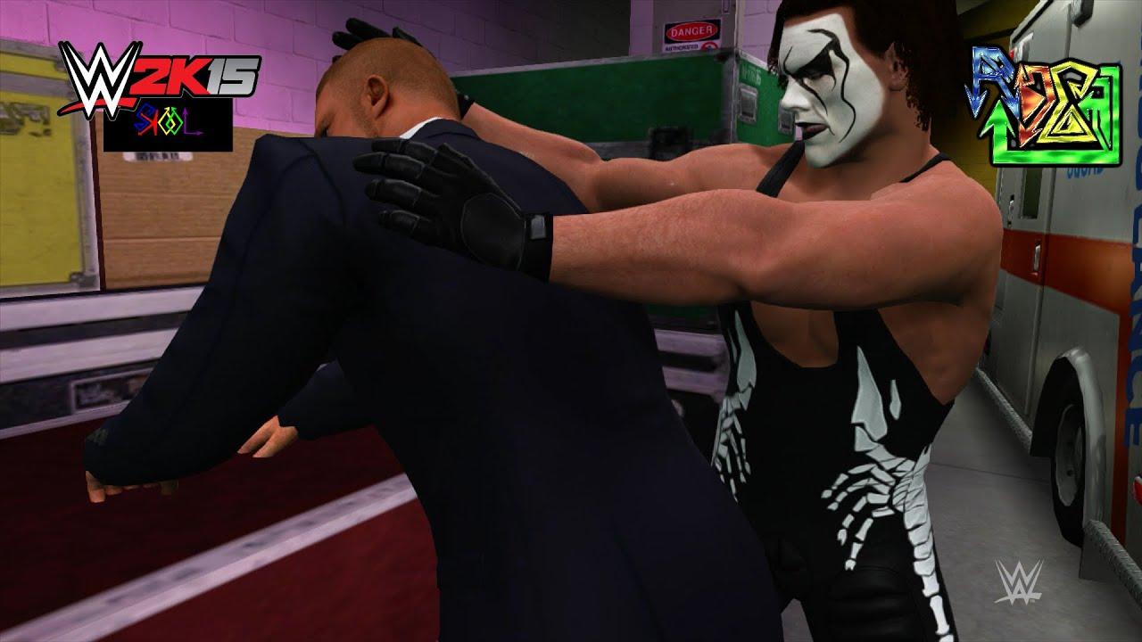 Sting Vs Triple H Backstage Brawl WWE 2K15 1080p HD