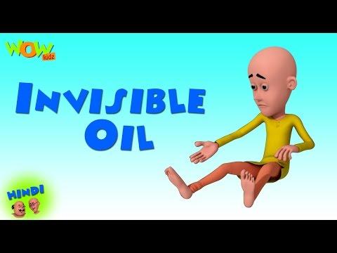 Motu Patlu Cartoons In Hindi   Animated cartoon  Invisible oil  Wow Kidz