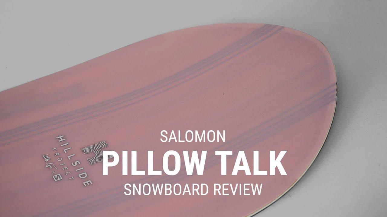 salomon pillowtalk 2019 women s snowboard review tactics