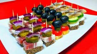 ✔️3 Обалденные Закуски Канапе на Праздничный Стол 🎄 Вкуснейшие Закуски на Новый Год 🎄 Snacks Canape