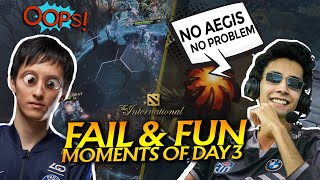 The International 10 - TI10 Best FAIL and FUN Moments of Group Stage - Day 3