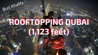 DANGEROUS CLIMB!! AARAA TOWER DUBAI! (1,123 feet)