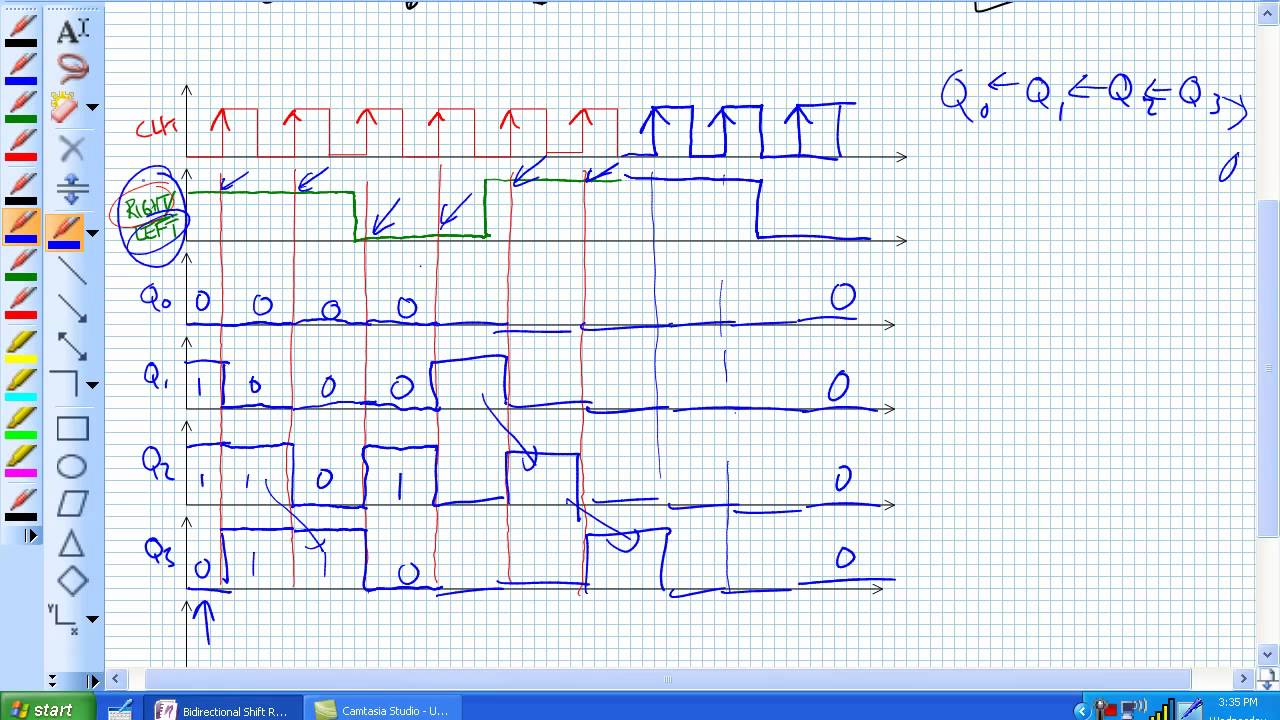 hight resolution of bidirectional shift register