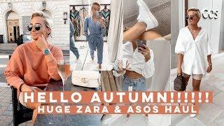 HELLO AUTUMN!! HUGE TRANSITIONAL ZARA AND ASOS HAUL | Olivia Rose Smith