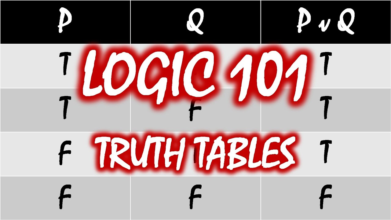 Logic 101 11 truth tables youtube biocorpaavc