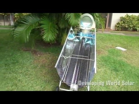 Blazing Tube Hybrid Solar Cooker