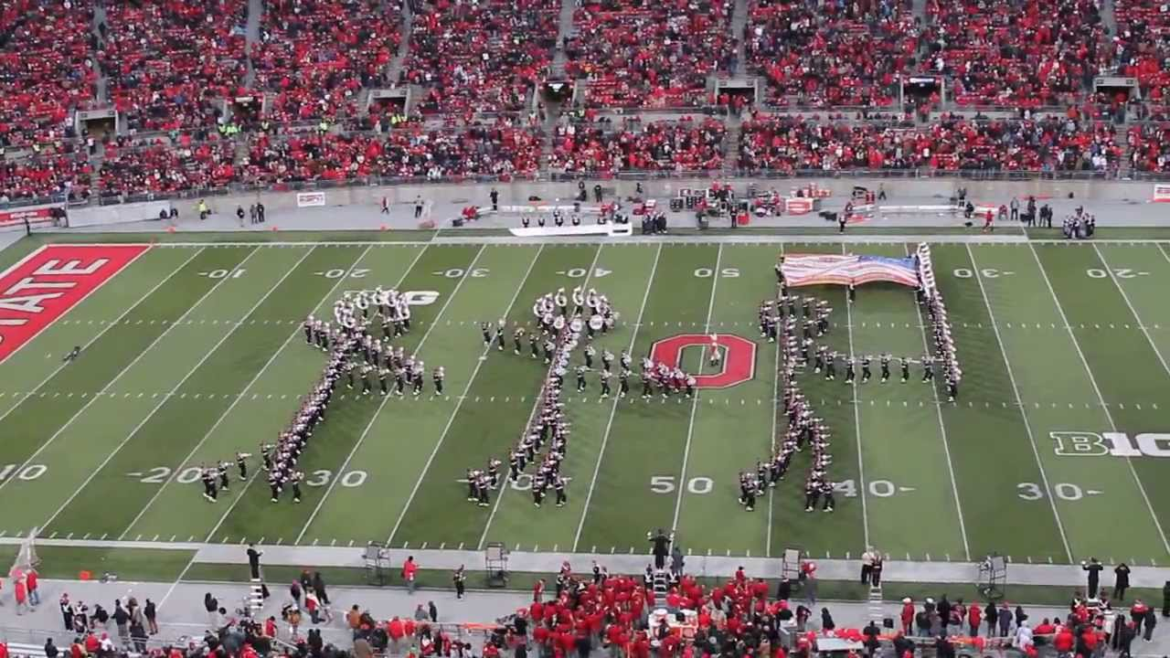 Ohio State Marching Band Halftime 11 23 13 Quot New Birth Of