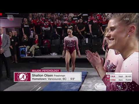 Shallon Olsen (Alabama) 2019 Vault vs Georgia 9.9