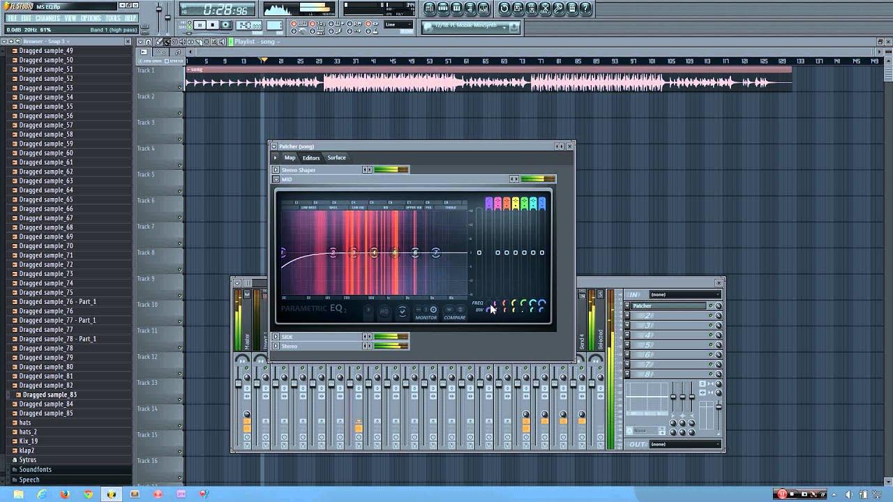 Fl Studio Tutorial How To Do Mid Side Eq Using Stock