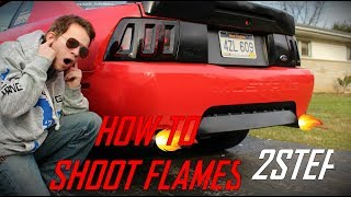 HOW TO MAKE YOUR CAR SHOOT FLAMES! (LOUD, 2 STEP)