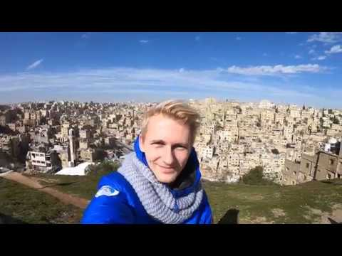 Jordan travel vlog Amman city walk and trip to Dead Sea GoPro HD