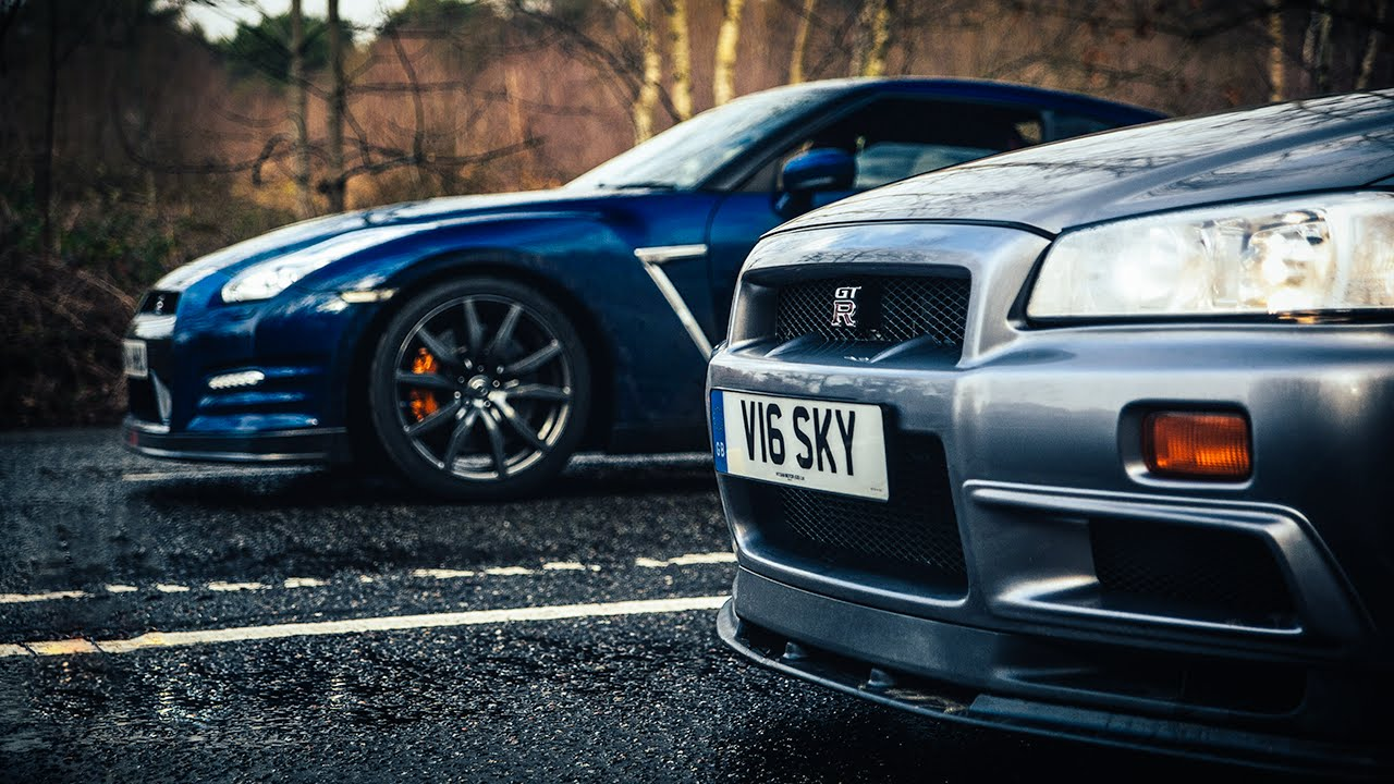 Nissan nissan sky : R34 Nissan Skyline GT-R Vs R35 GT-R: The Ultimate Godzilla Review ...