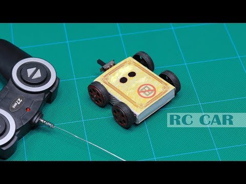 How to make a RC toy car at home using matchbox |New idea!