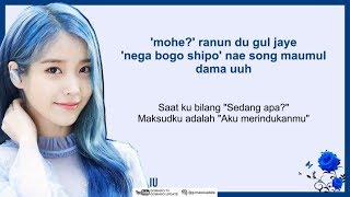 IU - Blueming [EasyLyrics/IndoSub] by GOMAWO