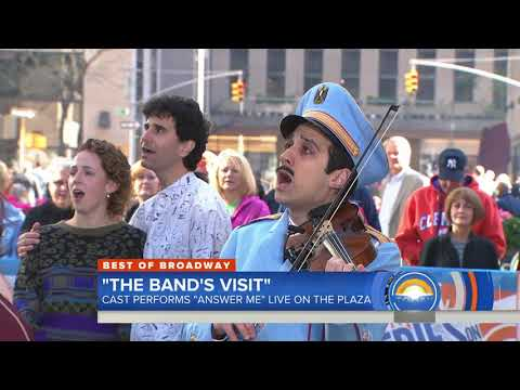 "Cast of 'The Band's Visit' performs ""Answer Me"" on TODAY show"