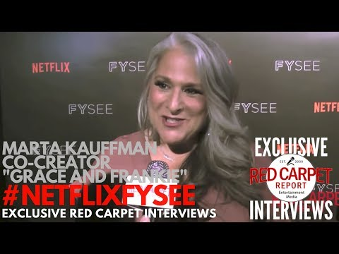 Marta Kauffman #GraceandFrankie interviewed at Netflix's Comedy Panel at FYSee Space #NetflixFYSee