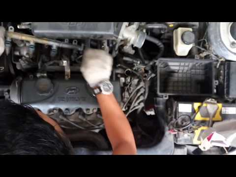 How to Full Remove, Cleaning Fuel Injection & Tune Up Hyundai Accent
