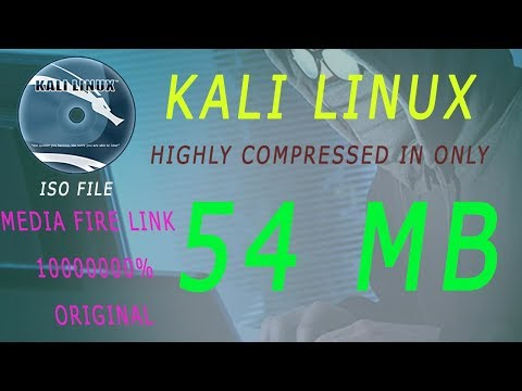 Kali Linux In 54Mb 32Bit & 64Bit Highly Compressed how to